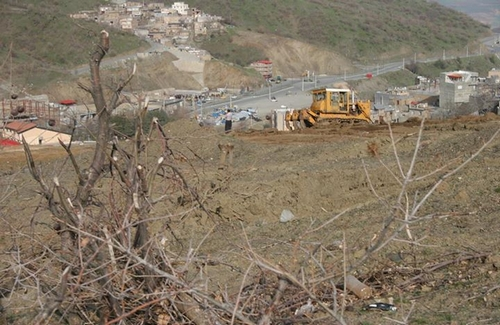 Sardasht Edges' Destruction by Military Forces